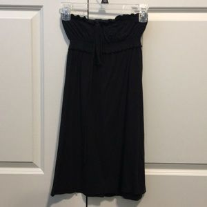☀️SO black strapless dress/ cover up size small